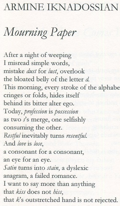 """Mourning Paper"" in MARGIE (Volume 8, 2009)"